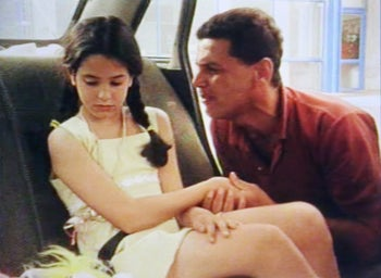"""From """"Something of Value,"""" Dorit Hakim's 1998 short in which a father leaves his daughter at a gas station."""