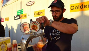 Canaan Khoury, the brewer and engineer at Taybeh Brewing Company.