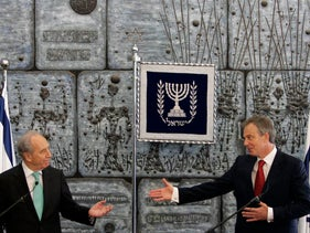 Tony Blair (R) with Israel's President Shimon Peres. 2007