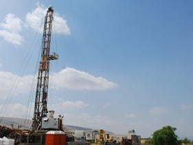 A water drilling site in the Golan Heights, 2011.