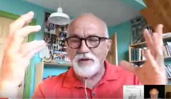 A screenshot of Anthony Hall appearing in a video published by 'False Flag Weekly News' on YouTube.