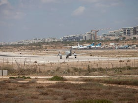 Planes at Tel Aviv's Sde Dov airport, June 14, 2014.