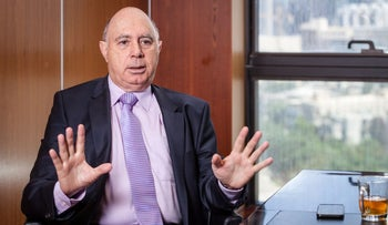 Pini Rubin, the co-chief of law firm Gornitzky and Co., in his Tel Aviv office, October 2016.