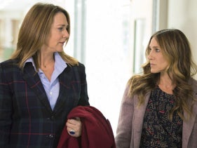 Sarah Jessica Parker, right, in the HBO comedy series 'Divorce.'