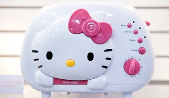 A Hello Kitty toaster sits on display during the 2011 International Consumer Electronics Show (CES) in Las Vegas, Nevada, U.S., on Saturday, Jan. 8, 2011.