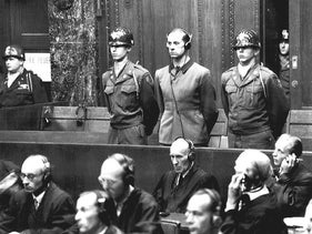 """A sentence of death by hanging is pronounced by a U.S. War Crimes Tribunal upon Adolf Hitler's personal physician, Karl Brandt, 43. The """"Doctors Trial"""" of Brandt and 22 others began on December 9, 1946 and would end on August 20, 1947."""