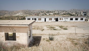 Abandoned army base near Beit Lehem in West Bank's Area C