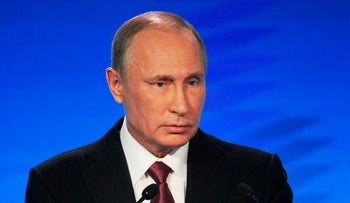Russian President Vladimir Putin speaks at a meeting of the Valdai International Discussion Club in Sochi, Russia, Thursday, Oct. 27, 2016.