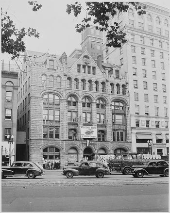 The Washington Post building in 1948, Washington D.C., U.S.A.