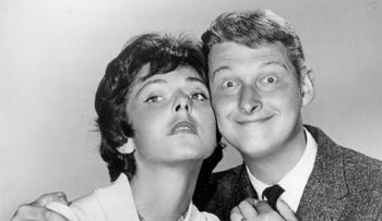 Elaine May (left) and Mike Nichols: publicity for a television special The Fabulous Fifties.