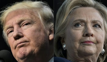 Rival presidential candidates Hillary Clinton and Donald Trump.