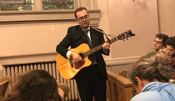 Beth Elohim's Cantor Josh Breitzer sings the 23rd Psalm, November 9, 2016.