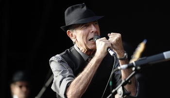 This file photo taken on July 20, 2008 shows Canadian singer Leonard Cohen perform during the international Festival of Beincassim.