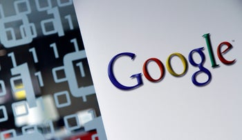 In this March 23, 2010, file photo, the Google logo is seen at the Google headquarters in Brussels.