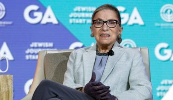 Supreme Court Associate Justice Ruth Bader Ginsburg speaks at The Jewish Federations of North America conference in Washington, Monday, Nov. 14, 2016.