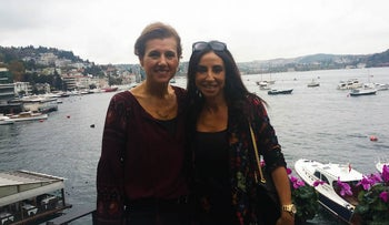 Turkish Jewish businesswoman Betty, left, and her friend Suzette at a cafe in Istanbul, Nov. 4, 2016. They asked that their last names not be used for security reasons.