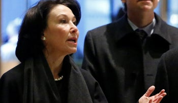Oracle co-CEO Safra Catz enters Trump Tower ahead of a meeting with the U.S. president-elect, New York City, December 14, 2016.