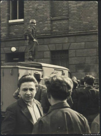Is this Herschel Grynszpan in a displaced persons camp in 1946?