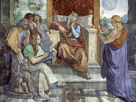 'Joseph Interprets Pharaoh's Dream,' a fresco by Peter von Cornelius, circa 1816–1817.