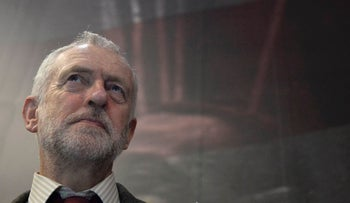 """Britain's opposition Labour Party leader Jeremy Corbyn, attends the opening of the """"I Am The Greatest"""" exhibition at the O2 in London, Britain March 3, 2016."""