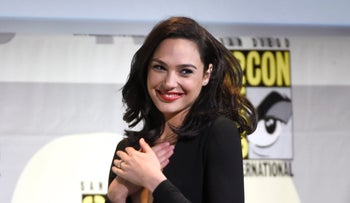 Gal Gadot walks on stage at the 'Wonder Woman' panel on day 3 of Comic-Con International in San Diego, California, U.S., July 23, 2016.