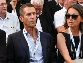 Beny Steinmetz, one of Israel's richest men, and his wife, 2013.