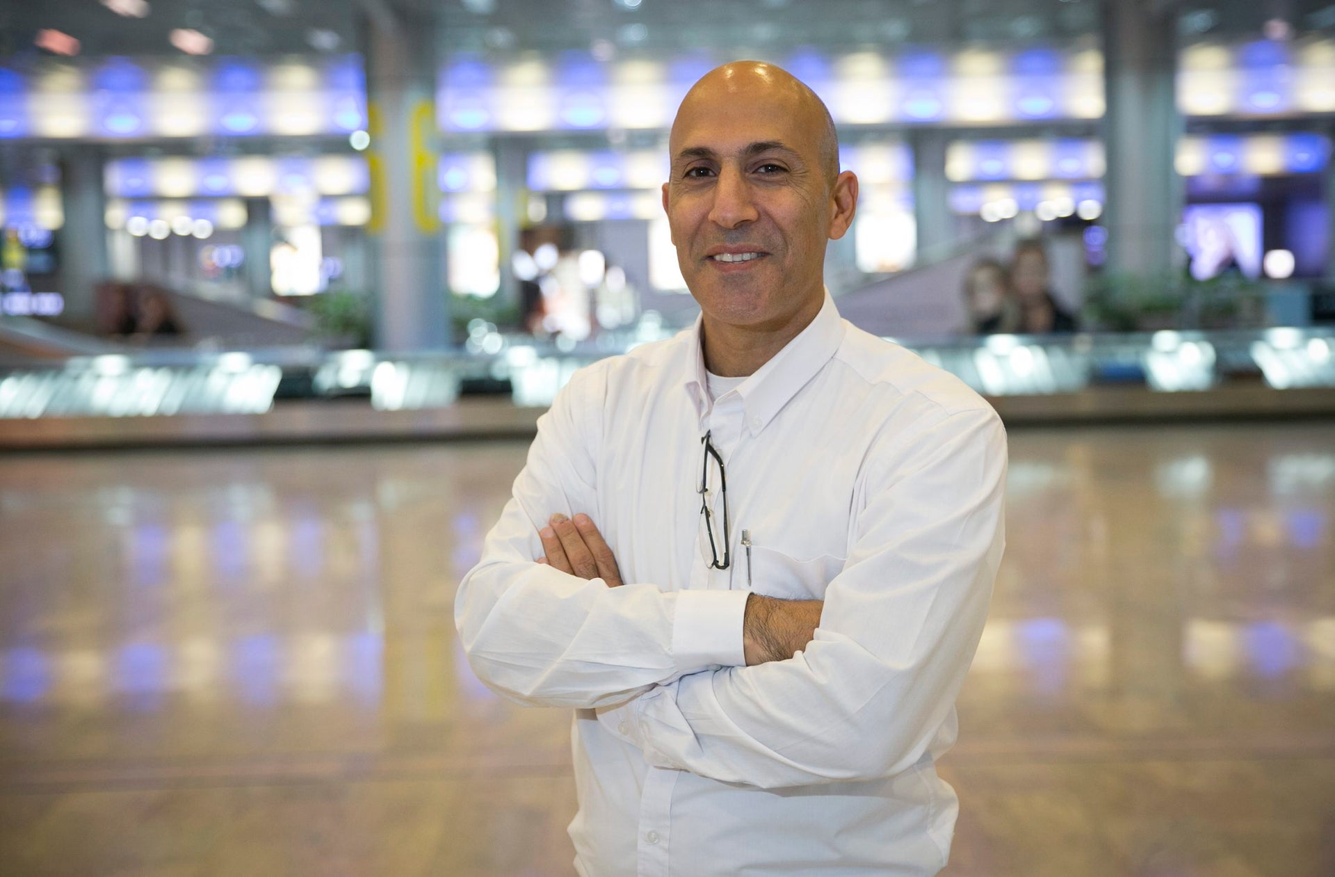 Yoram Aharoni, the nice gentleman who will be confiscating your contraband.
