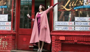 "Miriam ""Midge"" Maisel played by Rachel Brosnahan in 'The Marvelous Mrs. Maisel' produced by Amazon Studios."