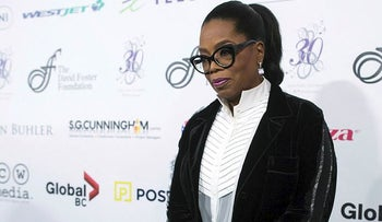 Oprah Winfrey arrives for the David Foster Foundation 30th Anniversary Miracle Gala and Concert, in Vancouver, British Columbia, Saturday, Oct. 21, 2017