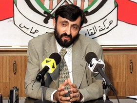 Senior Hamas official Imad al-Alami in Lebanon, 1999.