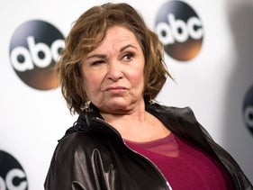 Actress Roseanne Barr attends the Disney ABC Television TCA Winter Press Tour on January 8, 2018, in Pasadena, California.