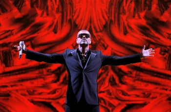 File photo of George Michael in September 2012. His death prompted much discussion on the 2016 Wikipedia page.