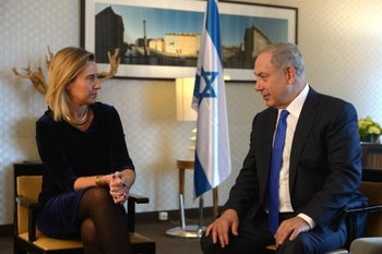 Prime Minister Benjamin Netanyahu with EU foreign policy chief Federica Mogherini in Jerusalem.