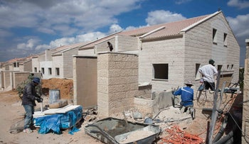 Housing construction in the settlement of Ariel