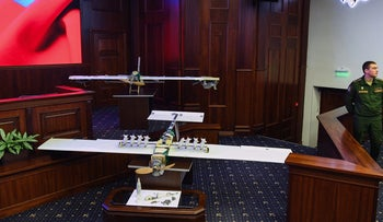 Two drones allegedly used during recent attack on Russia's bases in Syria, Russian Defense Ministry headquarters in Moscow on January 11, 2018.