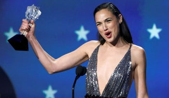 Gadot receives the 2018 #See Her award for her performance in Wonder Woman.
