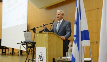 FILE PHOTO: Deputy Minister Michael Oren, a former ambassador to the United States, spoke at the Israel Model UN Association at by Bar-Ilan University this week.