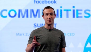 Facebook CEO Mark Zuckerberg speaks as he prepares for the Facebook Communities Summit in Chicago, June 27, 2017.