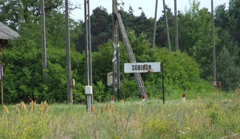 The site of Sobibor Nazi extermination camp.
