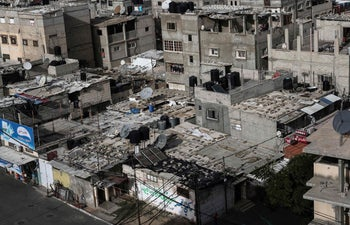 A general view of the Rafah refugee camp in the southern Gaza Strip on January 4, 2018.