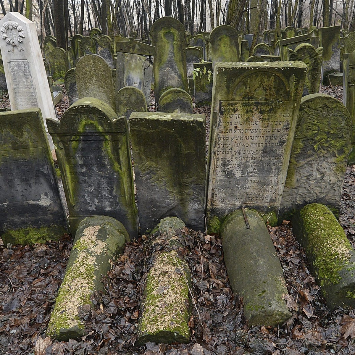 Gravestones at the Jewish Cemetery on Okopowa Street in Warsaw, Poland, Friday Dec. 22, 2017.