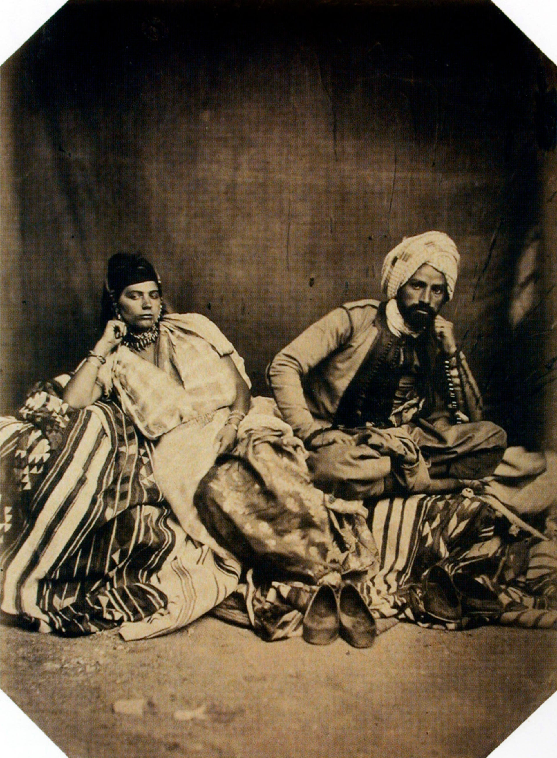A Jewish couple from Algeria in the middle of the 19th century.