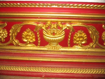 A detail from the Malabari synagogue ark in Ernakulam, Cochin, India.