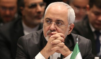 Iran's Foreign Minister Mohammad Javad Zarif at a summit of Islamic world leaders in Istanbul, Turkey on December 13, 2017.
