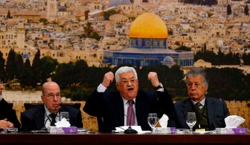 Palestinian President Mahmoud Abbas speaks during a meeting in Ramallah on January 12, 2018.