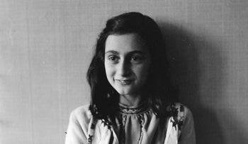 Anne Frank posing for a photo in 1941.