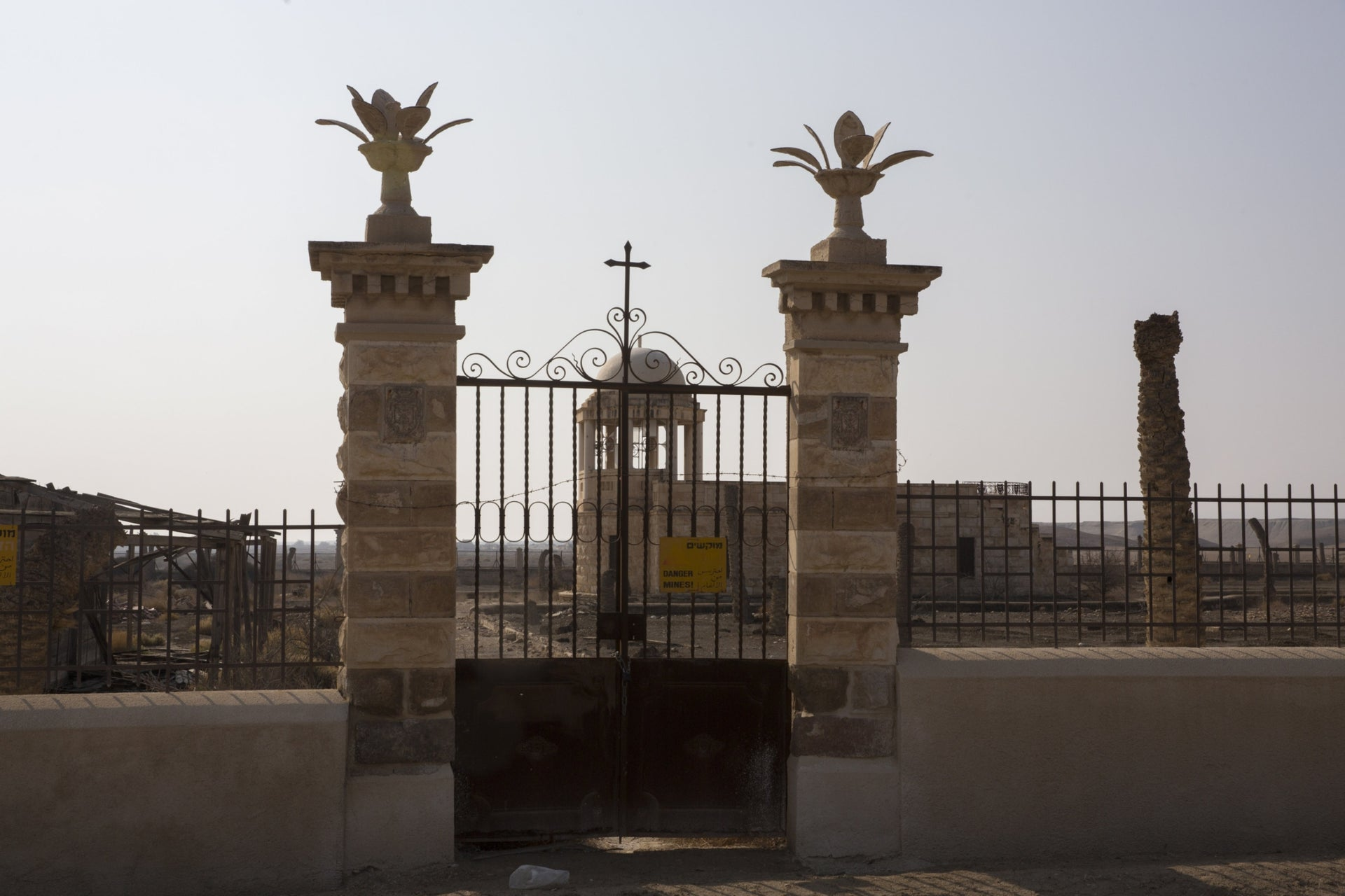 A locked entrance to one of the monasteries at Qasr el-Yahud.