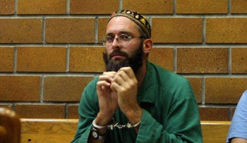 Yehoshua Elitzur in 2004, after he was arrested.