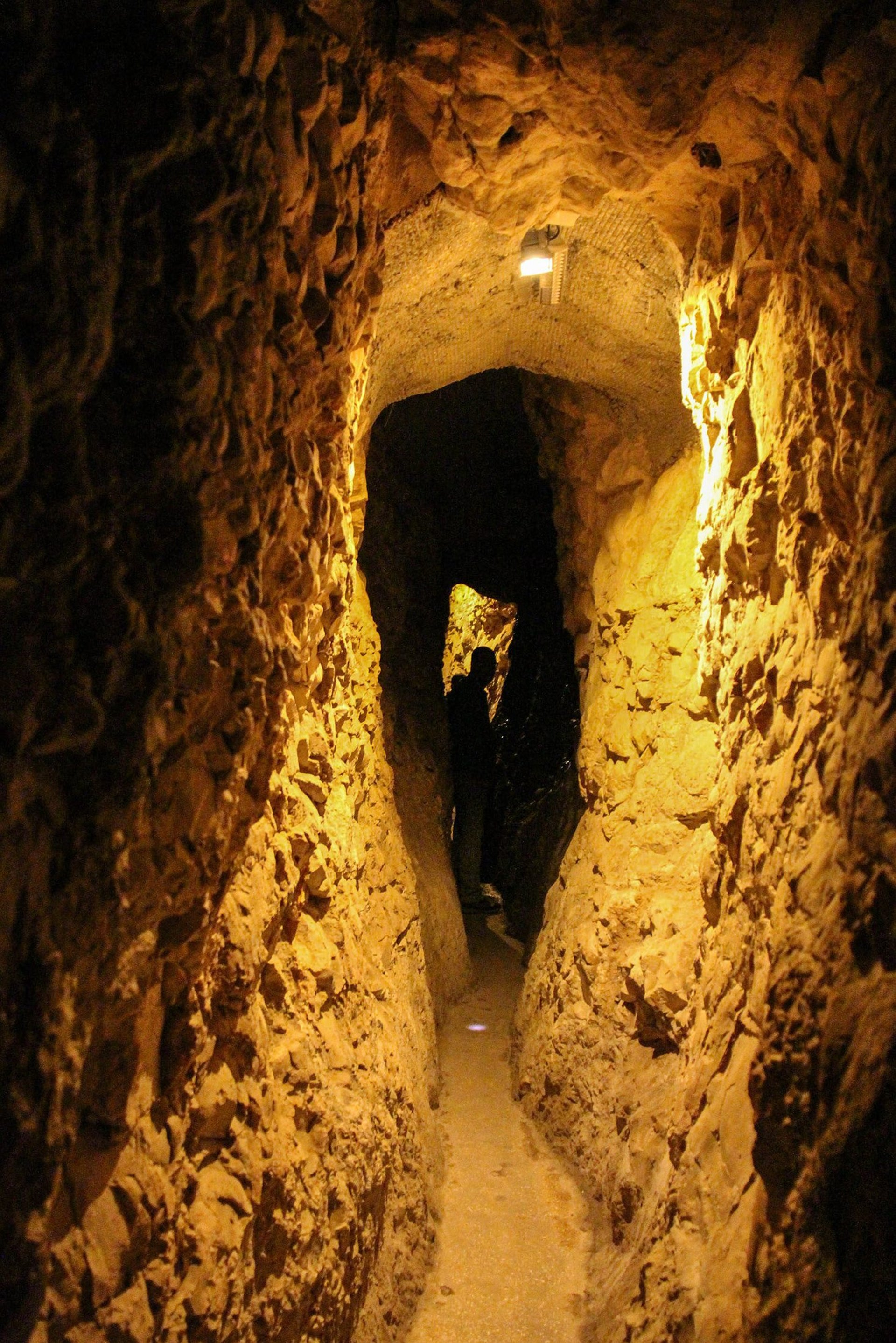 Underground tunnels that run under the Spring Tower and are part of the City of David's water supply system. Will they have to be redated too?
