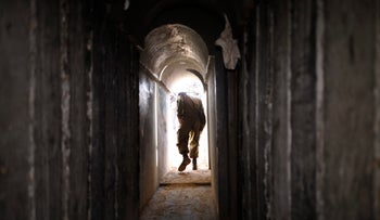 The cross-border attack tunnel that Israel destroyed in October.